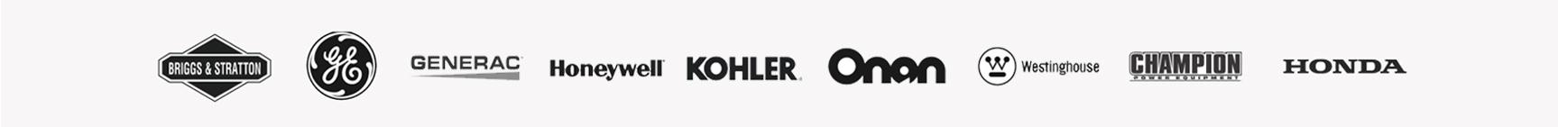 Brands We Trust: Briggs & Stratton, GE, Generac, Honeywell, Kohler, Onan, Westinghouse, Champion, Honda, and more