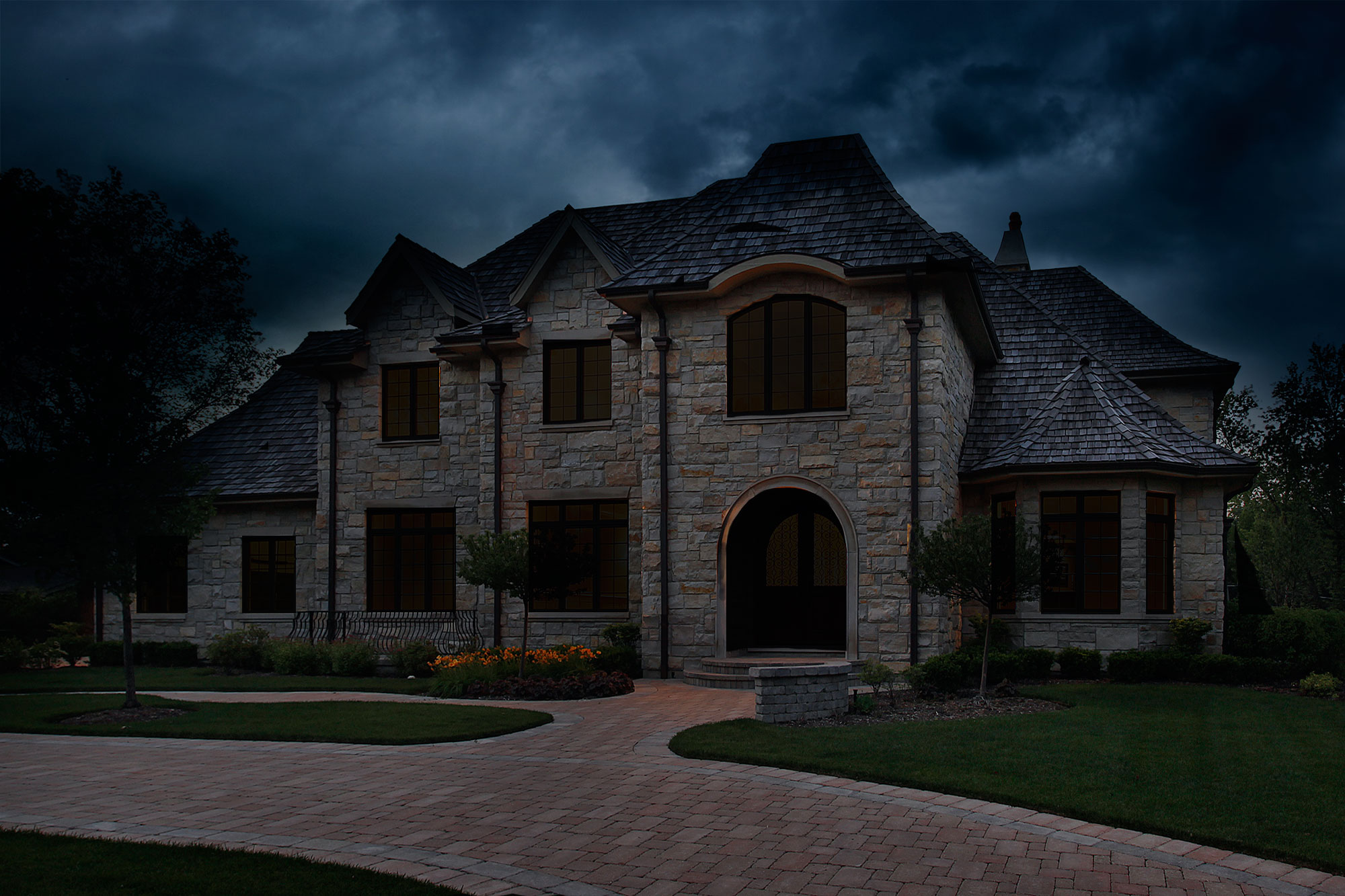 Home goes dark in a black out