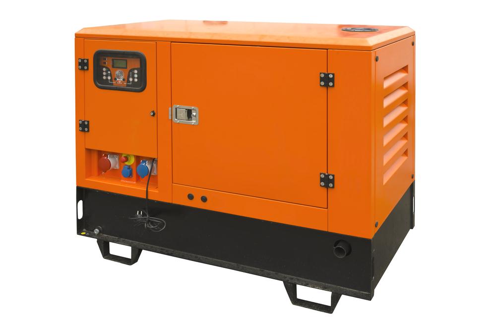 Large industrial generator orange