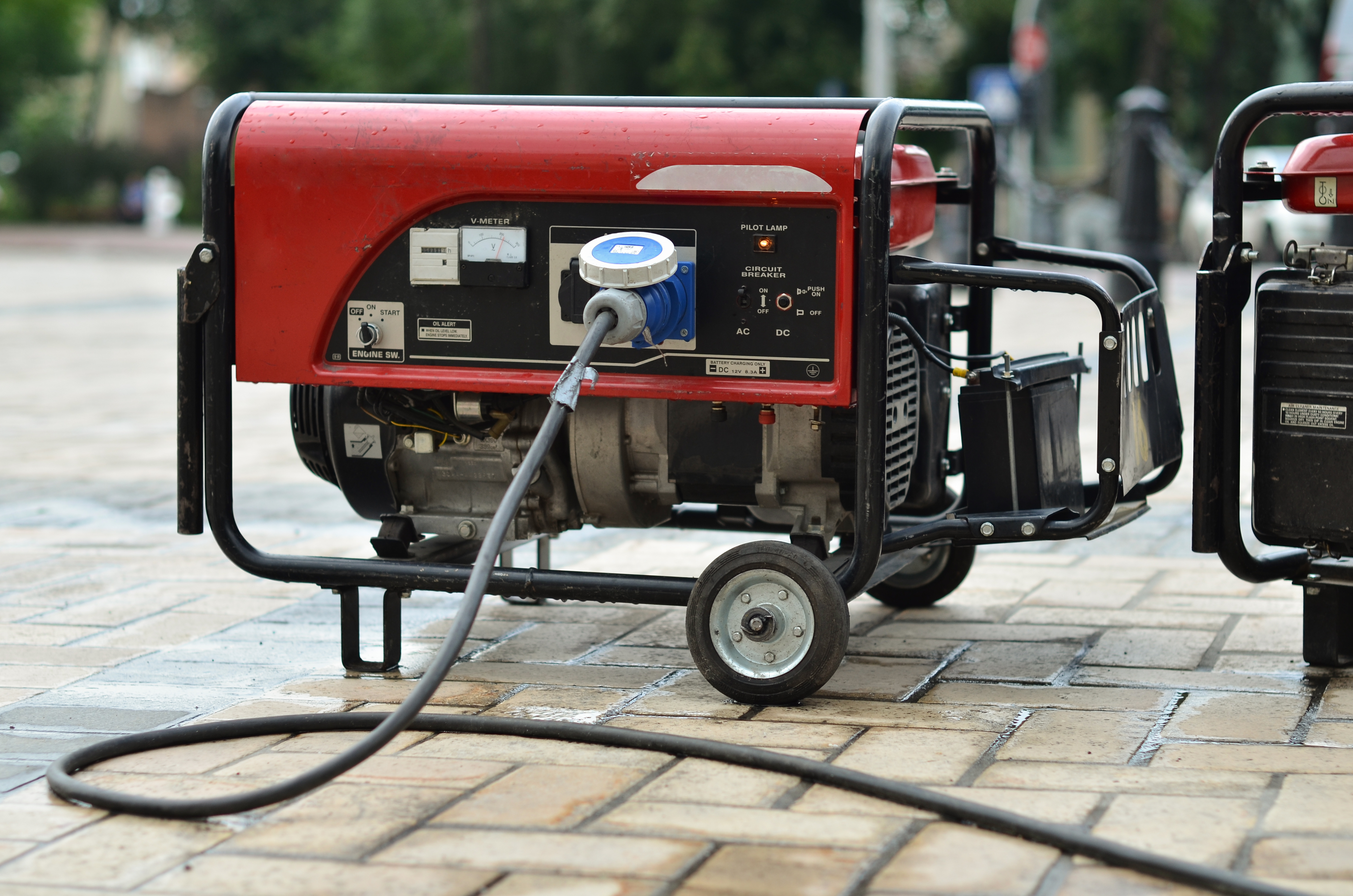 Red Portable generator